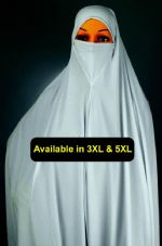 1 Piece X-Large Hijab with Niqab, Scarf, Khimar, Islamic Hajj & Umrah, Ihram NEW